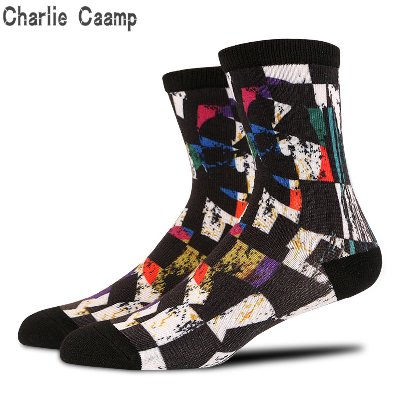 Charlie Caamp 3D 360 Seamless Polyester Mens Socks Antibacterial Deodorant Socks