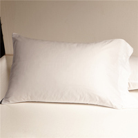 egyptian cotton pillow case fashion decorative satin pillowcase modern simple white pillow cover one pair free shipping