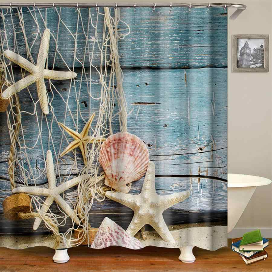 Nautical Beach Shower Curtain Fabric