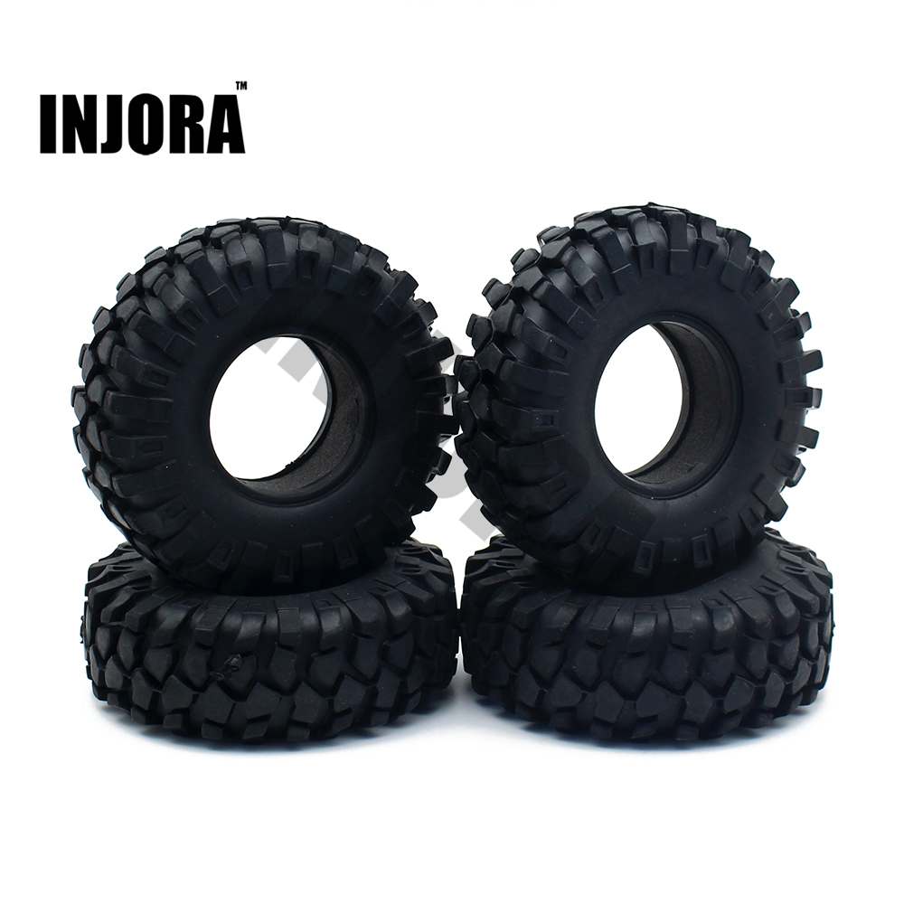 4PCS 1.9 Inch Outer Diameter 108mm Rubber Tyre / Wheel Tires for 1:10 RC Crawler Axial SCX10 90046 Tamiya CC01 RC4WD D90 D110 4pcs rc crawler truck 1 9 inch rubber tires