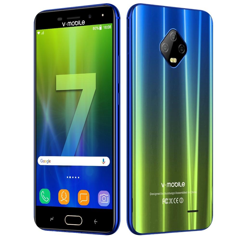 "TEENO Vmobile J7 Mobile Phone Android 7.0 5.5"" HD Screen 3GB+32GB Dual SIM 5800mah 4G Celular Smartphone Unlocked Cell Phone"
