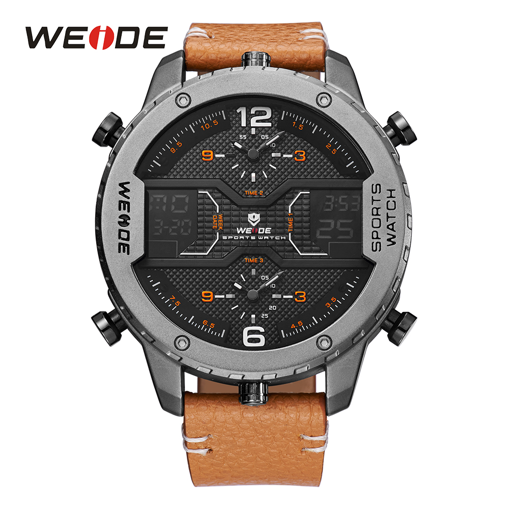WEIDE Men Sports Watch Analog Pointer Digital Calendar