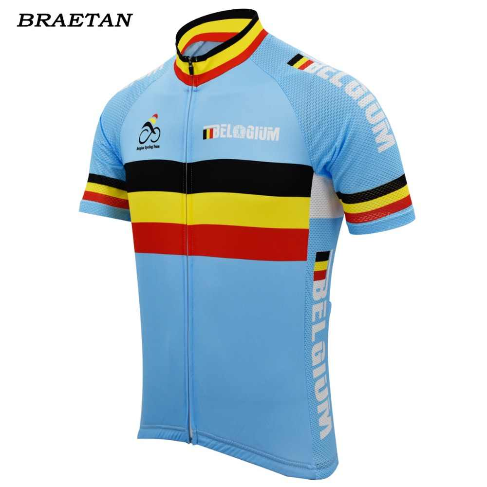 249b8381c Belgium team cycling jersey men short sleeve clothing cycling wear racing bicycle  clothes tour cycling clothing