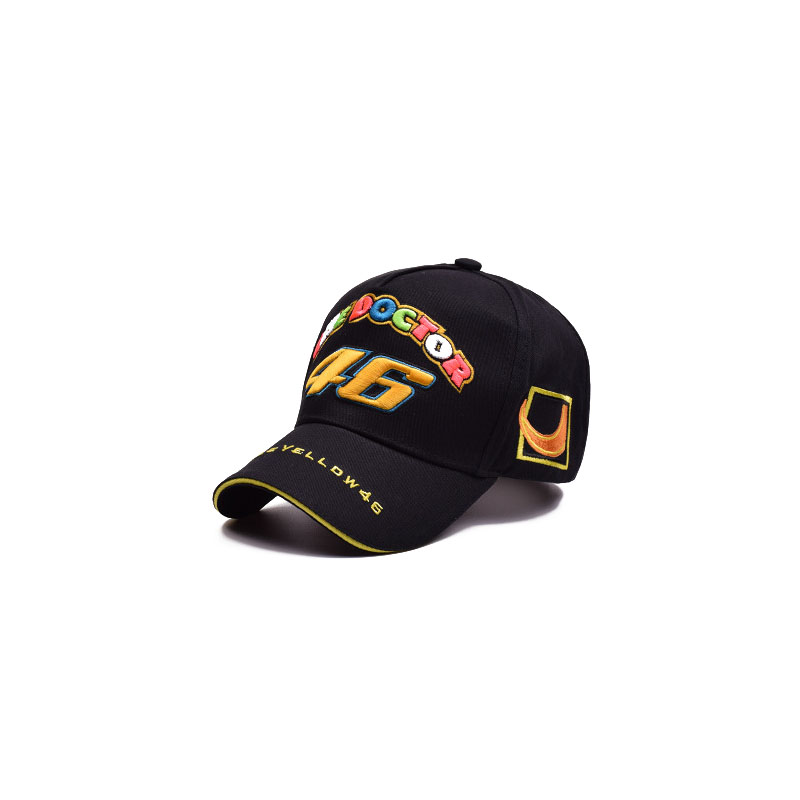 New unisex 100% cotton outdoor racing   baseball     cap   VR-46 under VRFORTYSIX embroidery fashion sports   caps   for men and women