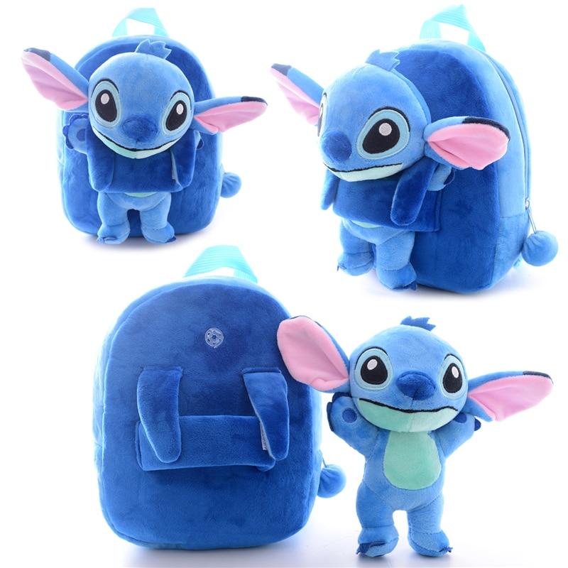 Plush School Backpack for Children Cartoon Lilo & Stitch Kindergarten Backpack for Kids Children with Lilo & Stitch Toy цены онлайн