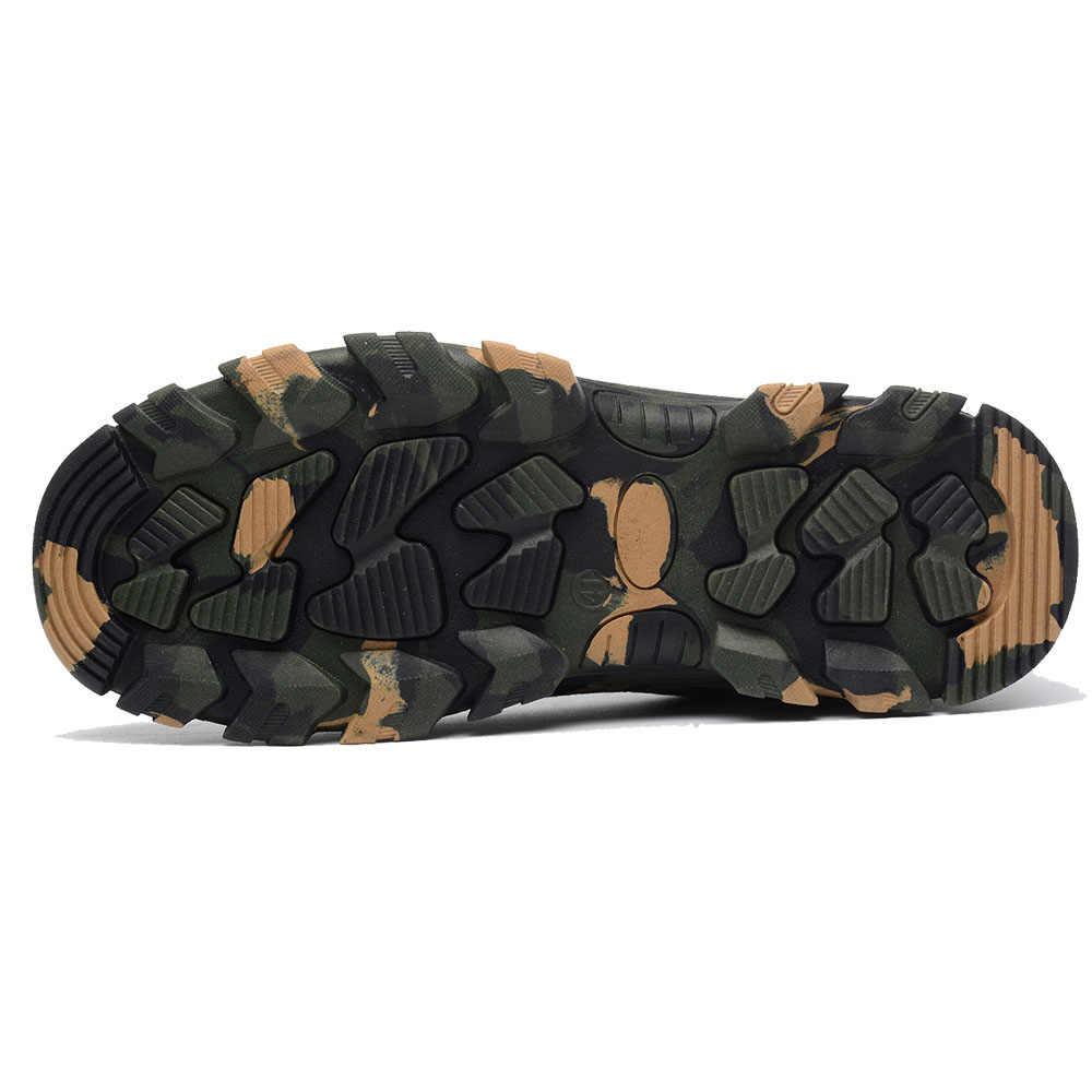 Erkek Nefes Örgü Çelik Ayak iş çizmeleri Çizmeler Erkekler Açık Anti Kayma Çelik Delinme Dayanıklı Koruyucu Güvenlik Ayakkabıları Erkek Ayakkabı