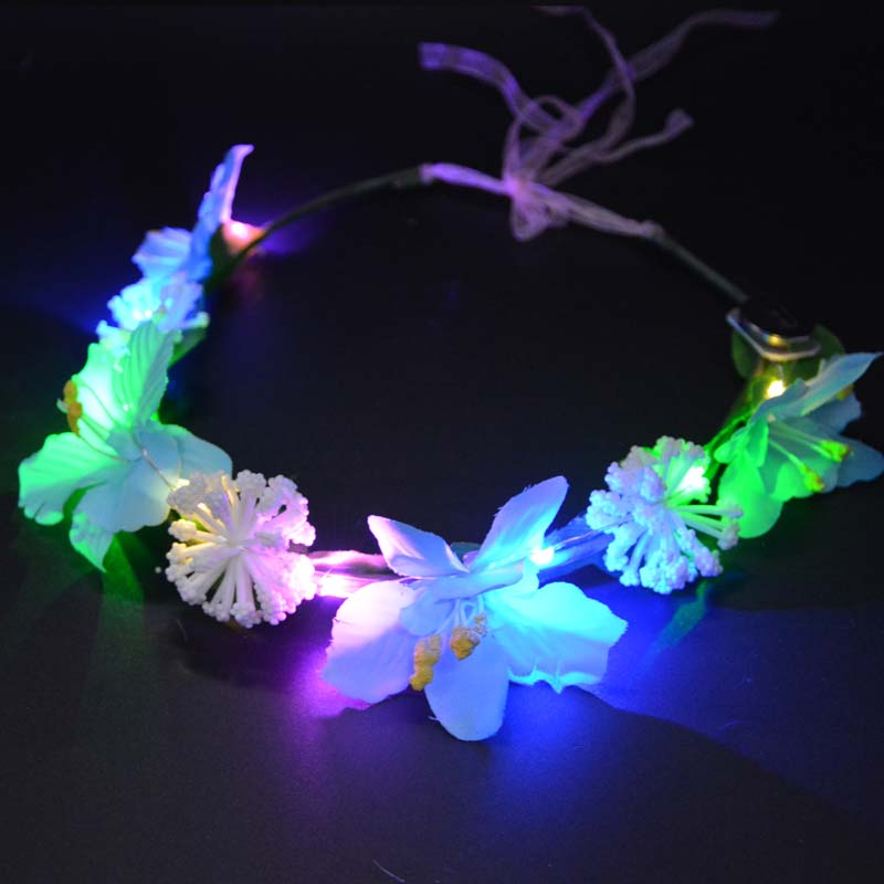 Vrouwen Meisje Sexy LED Knipperende Bloem Hoofdbanden Licht Bloemen - Feestversiering en feestartikelen - Foto 4