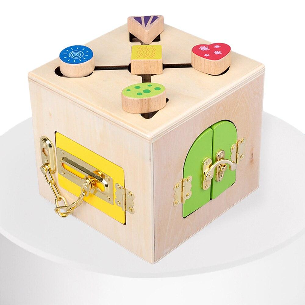 Montessori jouets serrure boîte jouet Montessori éducatif en bois jouets bois jouets sensoriels Montessori matériaux enfants jeux pour 3 ans