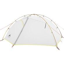 3F UL шестерни зеленый и белый 3 палатка для кемпинга сезонная 15D нейлон Fabic двухслойная водостойкая палатка для 2 человек