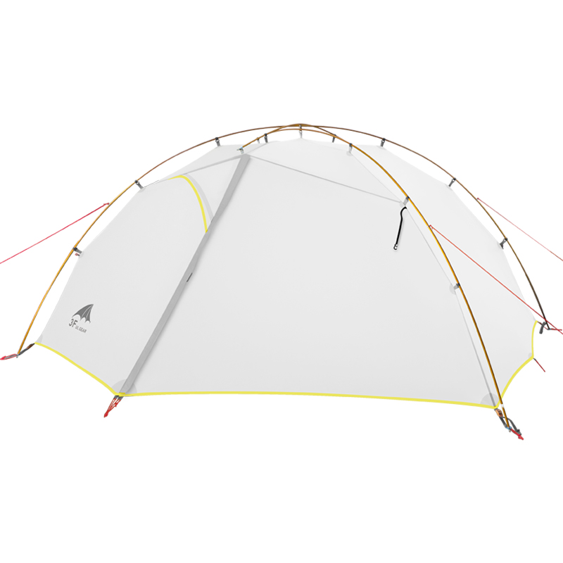 3F UL GEAR Green And White 4 Season Camping Tent 15D Nylon  Double Layer Waterproof Tent For 2 Persons