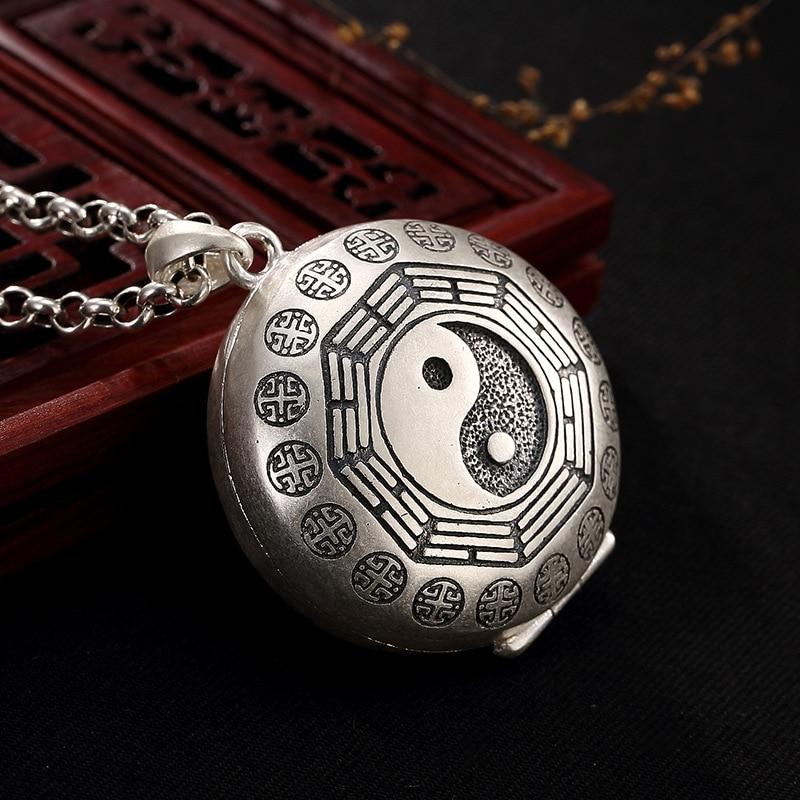Restoring Ancient Ways F Born Boundless Buddha Gourd Jiugong Gossip Ga Black Box Wholesale Sterling Silver Pendant