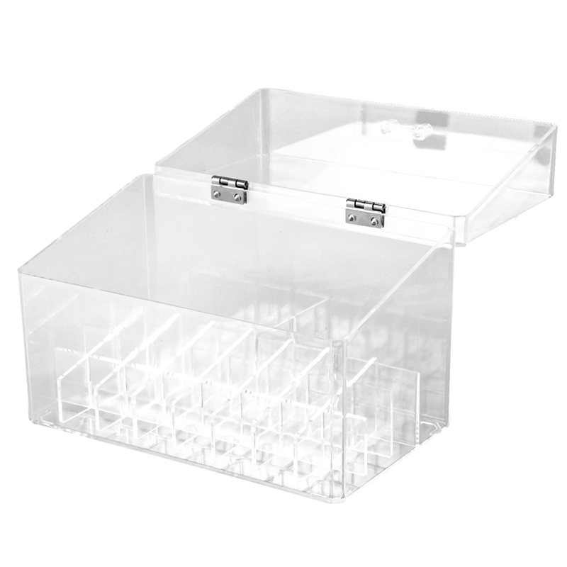 24 Grid Acrylic Makeup Organizer Storage Box Cosmetic Box Lipstick Jewelry Box Case Holder Display Stand Makeup Organizer(China)
