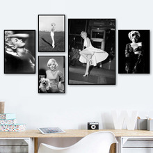 Marilyn Monroe Classic Photo Wall Art Canvas Painting Black White Nordic Posters And Prints Pictures For Living Room Decor