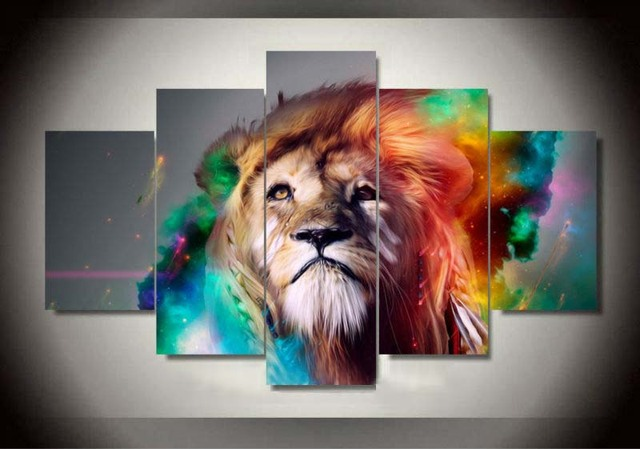 Superbe Modern Wall Art Picture Colourful Lion King Animal Canvas Printing Home  Decor For Living Room Unframed