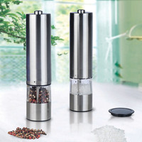 Stainless Steel Electric Pepper Grinder Spice Salt Pepper Mill Grinder Muller Kitchen MultifunctionalTool At Home Cooking