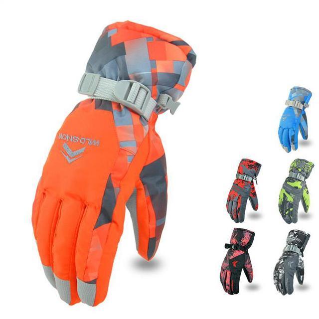 Новинка 2017 года Для мужчин лыжные перчатки для сноуборда перчатки снегоход мотоциклетные Зимние перчатки ветрозащитный Водонепроницаемый зимние перчатки унисекс