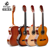 Spruce Classical Guitar Acoustic Electric Nylon String 39 Inches Guitarra 6 Strings Install Pickup Guitars Black Sapele Red Blue