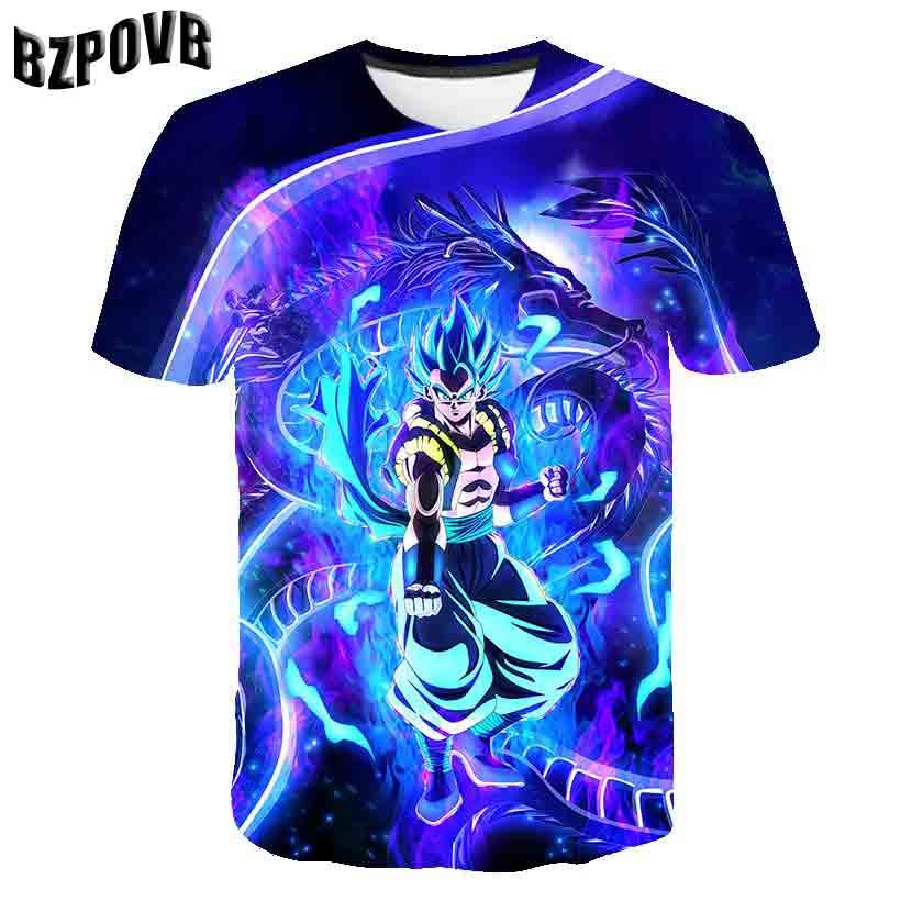 2019 New Dragon Ball  Bulma Super Saiyan Vegeta T-shirt 3D Men Women Anime Kid Goku Goten Gohan T Shirt Harajuku Lonzo Ball