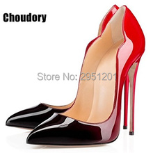 2017 Sexy Shoes Women Pointed Toe High Heels Stiletto Women Pumps Wedding Shoes Party Dress Shoes Black Patent Leather Pumps craylorvans top quality black nude gradient color 12 10 8cm women pumps pointed toe high heels patent leather women party shoes