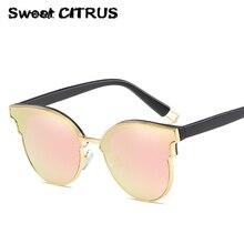 Dulce CÍTRICOS Clásico Diseñador de la Marca Mujeres Del Ojo de Gato gafas de Sol de Los Hombres UV400 gafas de sol de moda vintage gafas de Sol Para Mujer mujer