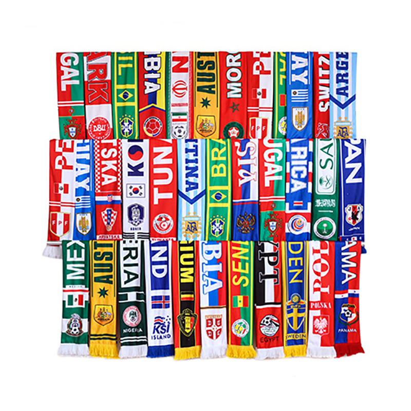 Russia World Cup Soccer Fans Scarf 2018 Soft Football Scarfs National 32 Teams Gift For Football Fan Soccer Cheerleaders Scarves