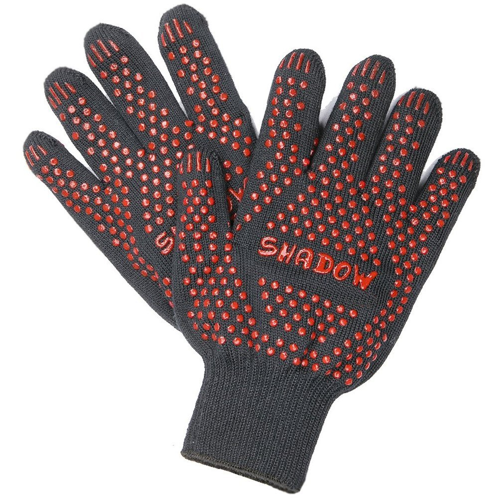 Well Heat resistant glove BBQ Oven glove Protecting hand from heat Cooking glove Hot polder,silicone aramid gloves mr grill heat resistant oven