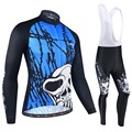 cea1211e8 BXIO Item Skull Blue Cycling Clothing Winter Thermal Fleece Bicycle Jersey  Keep Warm Bikes Clothes Ropa Ciclismo BX-171USD 45.75 set