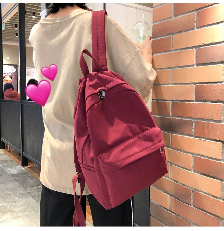 HTB1BNfPXAT2gK0jSZPcq6AKkpXar 2019 Backpack Women Backpack Solid Color Women Shoulder Bag Fashion School Bag For Teenage Girl Children Backpacks Travel Bag