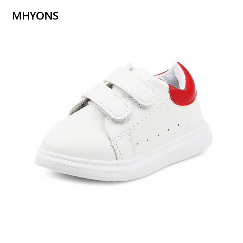 children s shoes 2018 spring and autumn plush waterproof leather boys and girls leisure sports white running trail shoes genuine ...