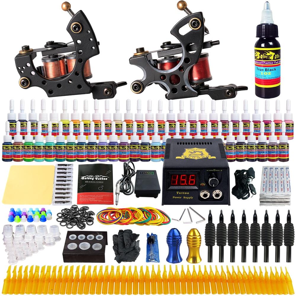 Beginner Tattoo Kit 2 Pro Machine Power Supply Needle Grips Tips TK211 global beginner coursebook eworkbook pack