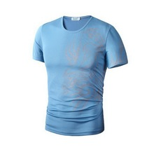 Fashion Brand Men Novelty Dragon Printing O Neck T Shirts