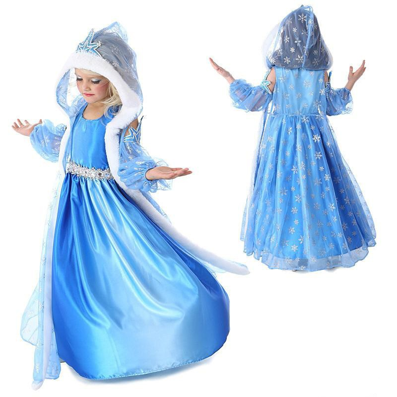 Christmas Anna Elsa Princess Girls 3pcs Dress Sets Cosplay Party Costume Dress Baby Snow Queen Children Clothing Kids Dresses summer girls snow white princess dresses kids girls halloween party christmas cosplay dresses costume children girl clothing