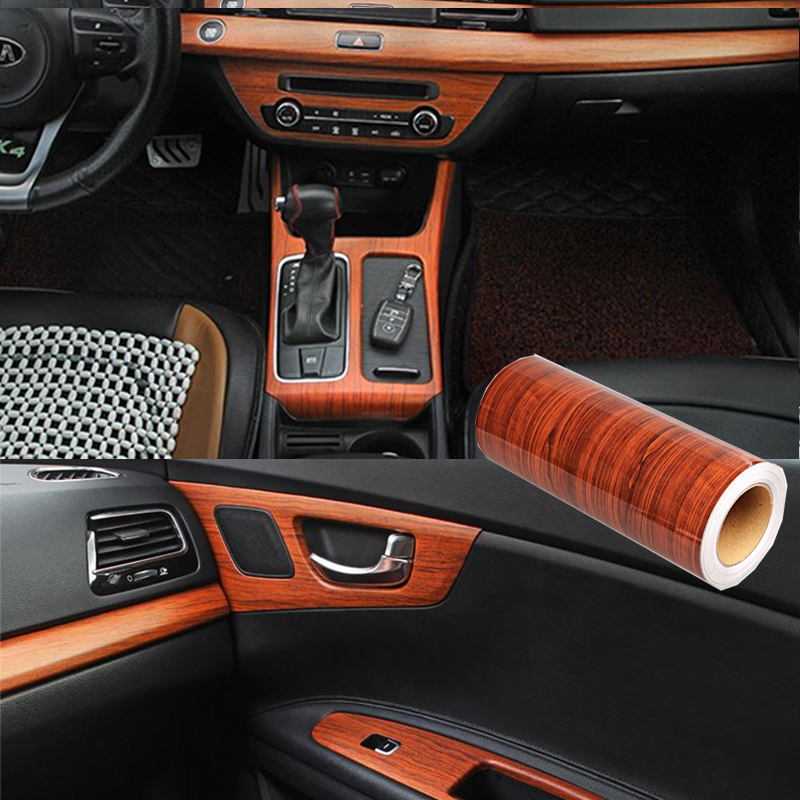 30X100cm Wood Grain DIY Car Sticker Decal Film For Mercedes Benz W205 W203 W212 W124 W204 W176 Volvo XC90 S60 V40 S80 XC60 V60