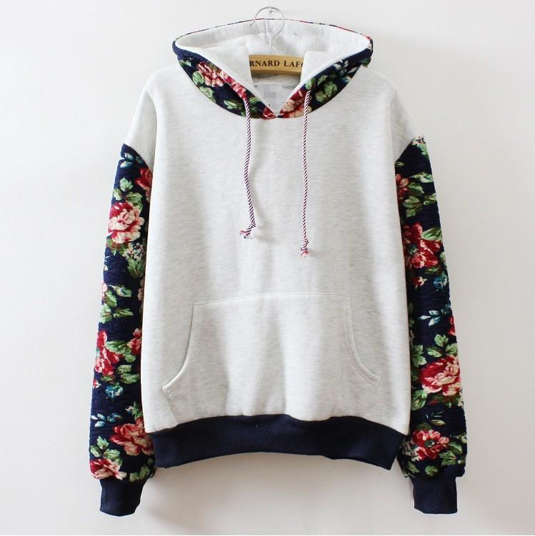 Autumn Winter Women Casual Thick Warm Floral Printed ...