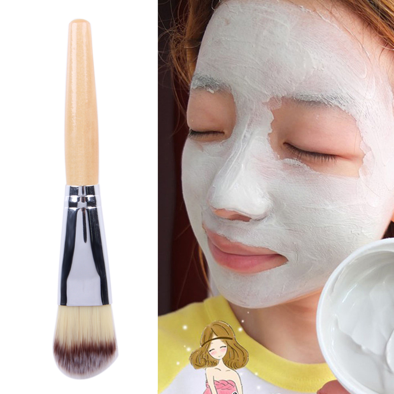 Professional Facial Face Mask Bamboo Handle Mud Mask Mixing Brush Skin Care Cosmetic Foundation Makeup Brushes Tools maquiagem addfavor acrylic handle beauty cosmetic face clean mask brushes eyes skin care make up tools soft makeup synthetic hair brush