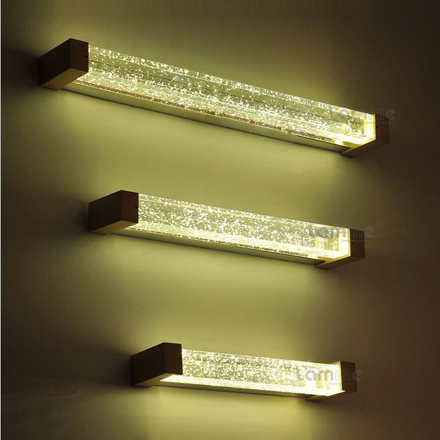 Bathroom Tube Sconces aliexpress : buy luxury modern k9 bubble crystal tube led