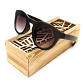 BOBO BIRD Womens Wood Grain Cat Eye Sunglasses Ladies Cheap Summer Beach Sunglasses in Wood Box