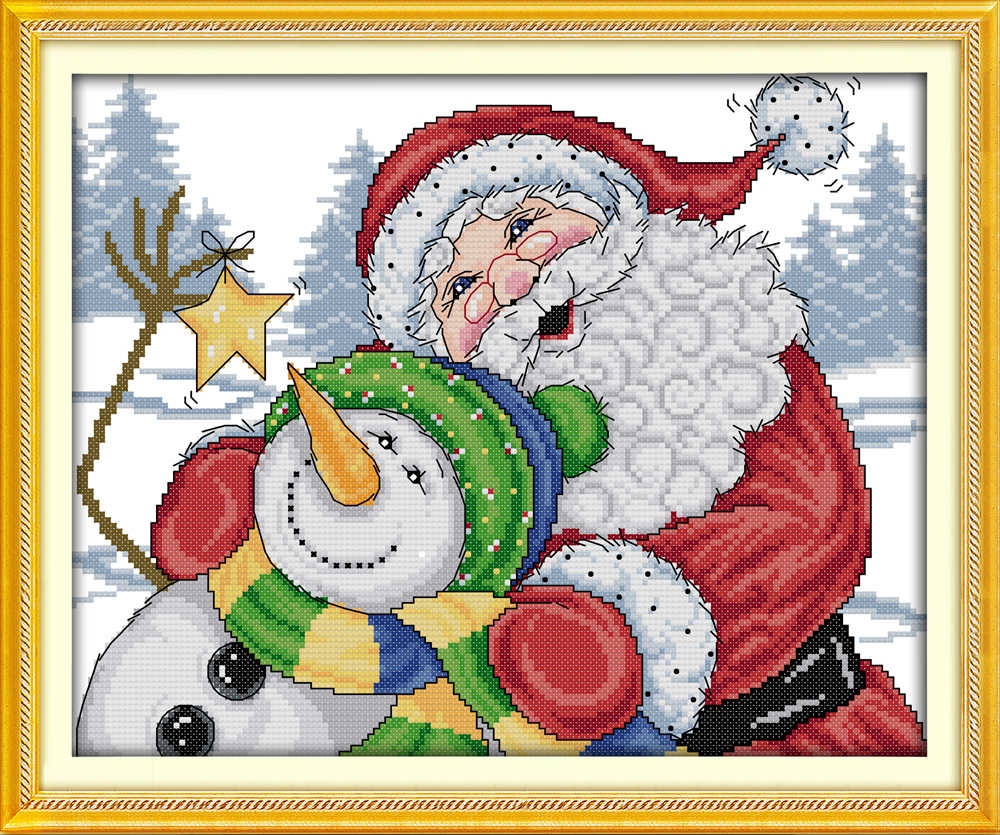 Everlasting love Merry Christmas Ecological cotton Cross Stitch 11CT 14CT stamped product DIY gift new year decorations for home