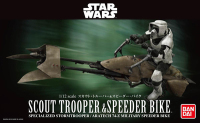 Bandai Star Wars 1/12 Scout Trooper With Speeder Bike Collection Action Figure for Fans Holiday Gift