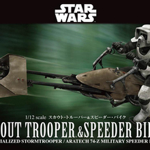 Bandai Star Wars 1/12 Scout Trooper With Speeder Bike Collection Action Figure f