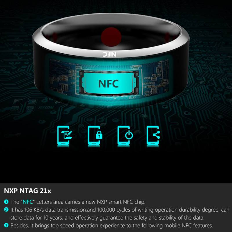 R3 R3F MJ02 New Technology Magic NFC Smart Rings 9