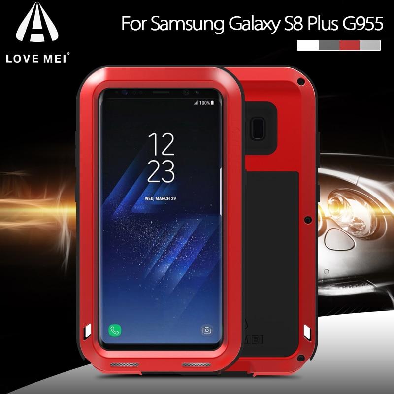 imágenes para AMOR MEI para Galaxy S 8 + Cajas Del Teléfono de Gran Alcance A Prueba de Golpes gota a prueba de Polvo a prueba de La Cubierta Del Teléfono para Samsung Galaxy S8 Más G955 cubierta