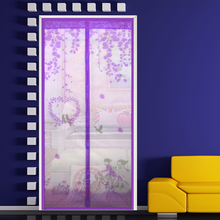 2017 new summer 100*210cm anti-mosquito door curtain on magnets eco-friendly doors curtain magnetic mosquito nets