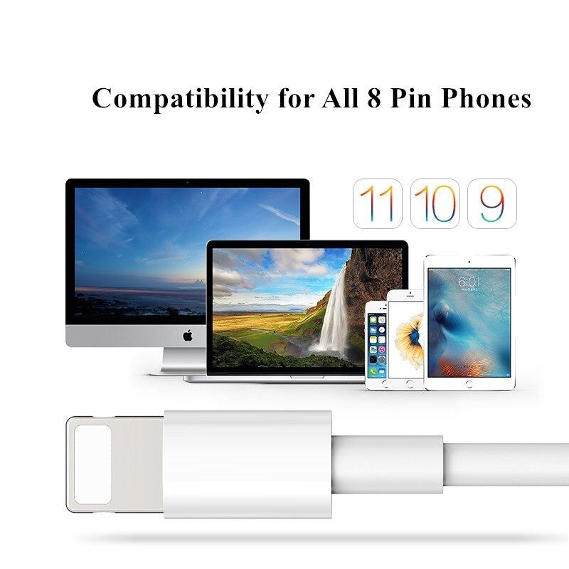 Data USB kabel för blixtkabel, GUSGU 2.1A laddare för laddare för iPhone 5s X 8 7 6s 5 se för iPhone kabel för iPad