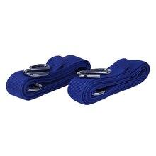 1 пара сильный ремень повязки пояса с S Крючки Профессиональный для Стенд Максимальная Вес 500 кг гамак синий
