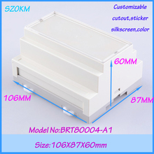 1 piece free shipping plastic box controller din rail enclosure abs box electronics   106*87*60mm
