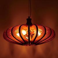 Modern Wooden Pumpkin pendant lights Shop Loft Garden Single Head pendant lamps Retro Living Room Restaurant Cafe ZA MZ110