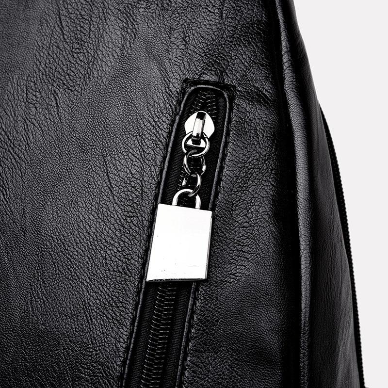 HTB1BNhblpkoBKNjSZFEq6zrEVXae Women Leather Backpacks Zipper Female Chest Bag Sac a Dos Travel Back Pack Ladies Bagpack Mochilas School Bags For Teenage Girls