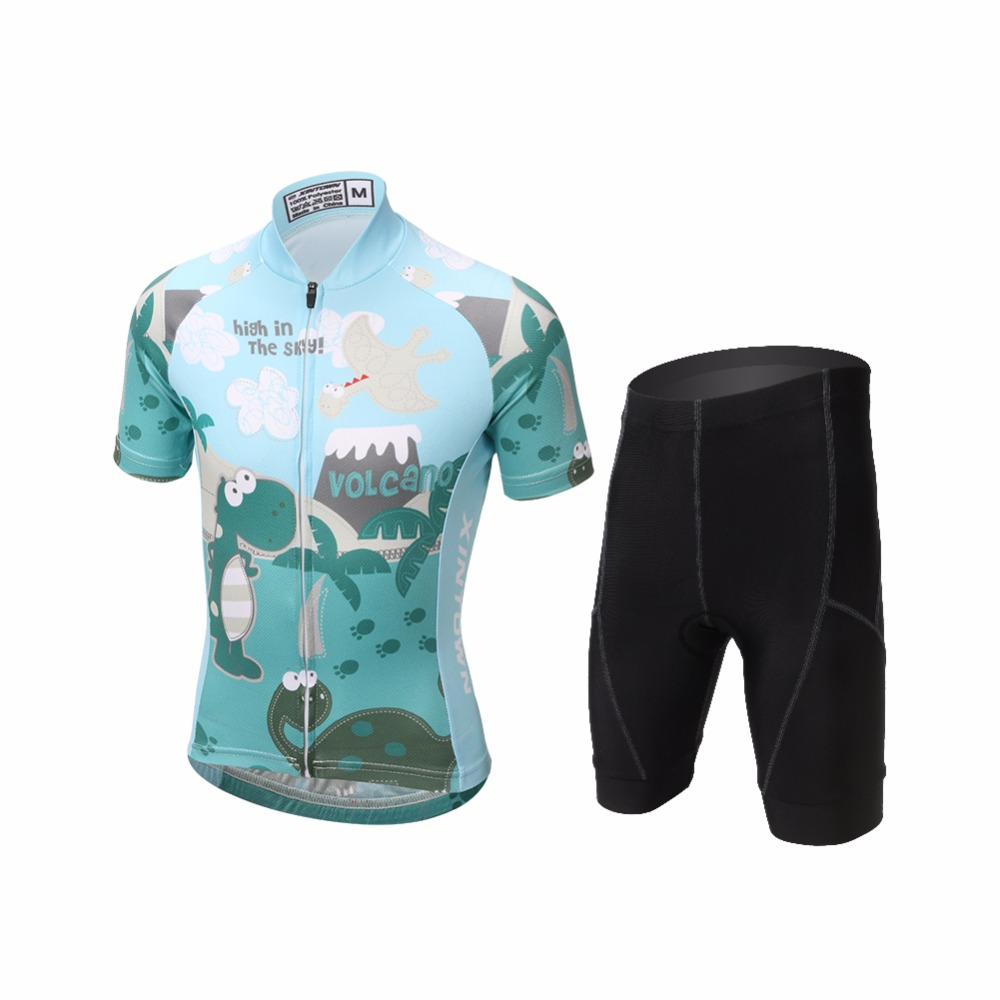 Pro Cycling Jersey Sets Kids Cycling Clothing MTB Bicycle Kit Summer Breathable Children Bike Wear Short Sleeve cheji men original camouflage green cycling jersey mtb outdoor breathable bike short sleeve clothing bicycle jersey s 3xl
