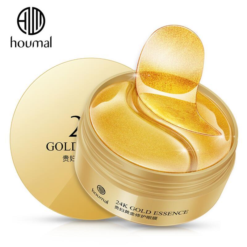 60pcs 24K Gold Essence Eye Mask Eye Bags Moisturizing Hydration Eye Patches Remove Wrinkle Eyes Skin Care-3